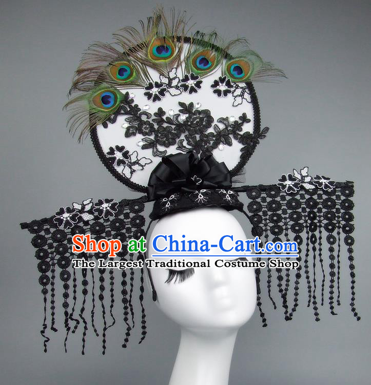 Handmade Halloween Cosplay Hair Accessories Chinese Stage Performance Tassel Hair Clasp Headdress for Women