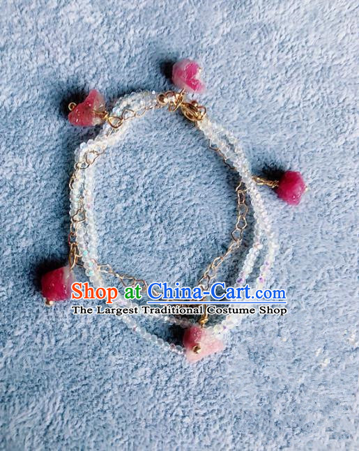 Top Grade Chinese Handmade Beads Bracelet Traditional Bride Bangle Jewelry Accessories for Women