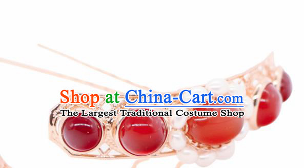 Chinese Traditional Handmade Agate Hair Clip Hair Accessories Ancient Hairpins for Women