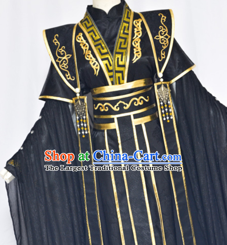 Ancient Chinese Super Hero Emperor Royal Costume for Men