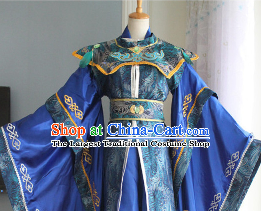 Ancient Chinese Super Hero Peacock Emperor Costume for Men