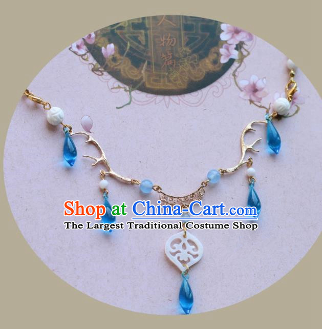 Traditional Chinese Handmade Shell Necklace Ancient Necklet Accessories for Women