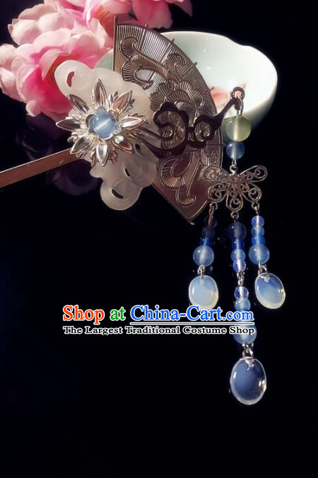 Chinese Handmade Ancient Jade Hair Clip Hair Accessories Hanfu Hairpins for Women