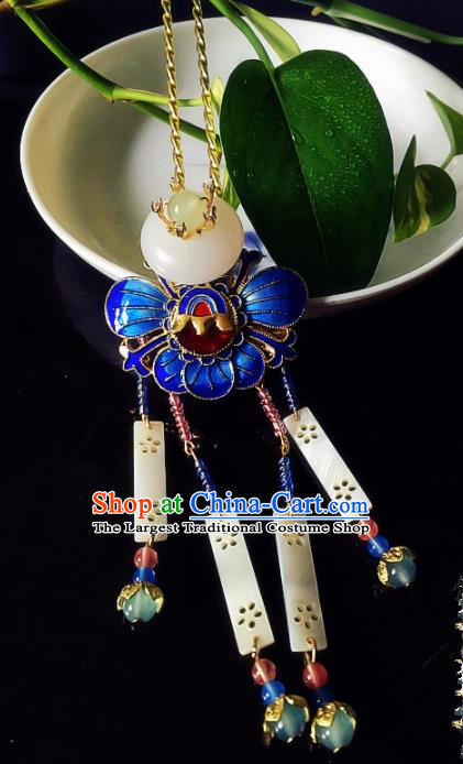 Chinese Handmade Ancient Hair Clip Hair Accessories Hanfu Blueing Hairpins for Women
