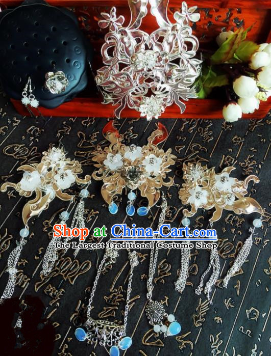 Chinese Handmade Ancient Palace Princess Hair Accessories Hanfu Hairpins Complete Set for Women
