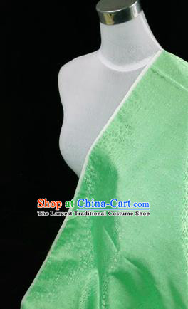 Asian Chinese Traditional Tang Suit Fabric Green Satin Brocade Silk Material Classical Pattern Design Drapery