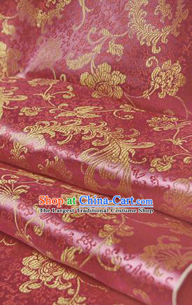 Asian Chinese Traditional Tang Suit Fabric Satin Brocade Silk Material Classical Pattern Design Drapery