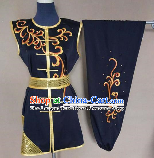 Chinese Traditional Martial Arts Embroidered Costumes Tai Chi Tai Ji Training Clothing for Adults