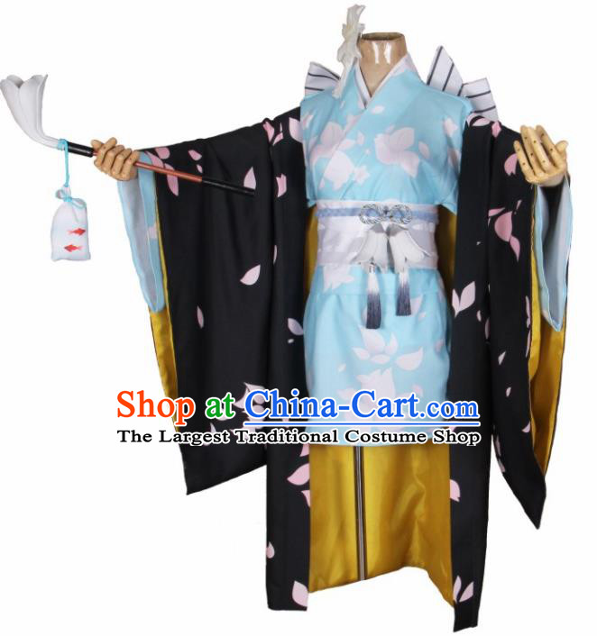 Asian Japanese Traditional Cosplay Geisha Costumes Ancient Kimono Yukata Clothing for Women