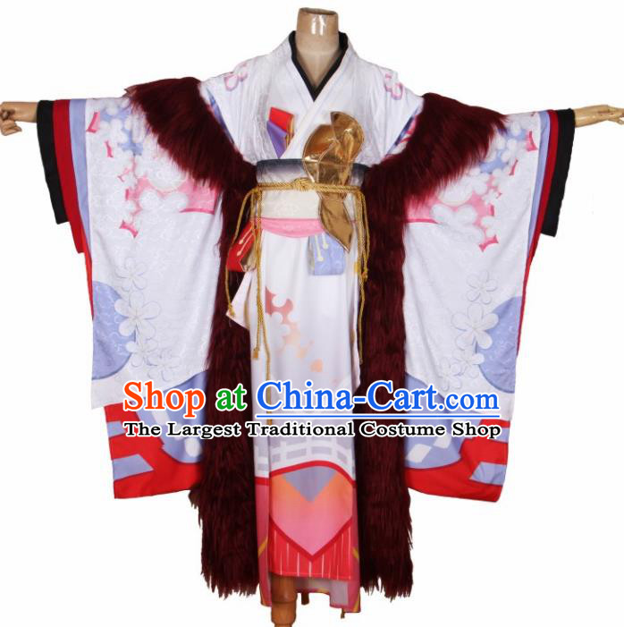 Asian Japanese Traditional Cosplay Costumes Ancient Geisha Furisode Kimono Yukata Clothing for Women