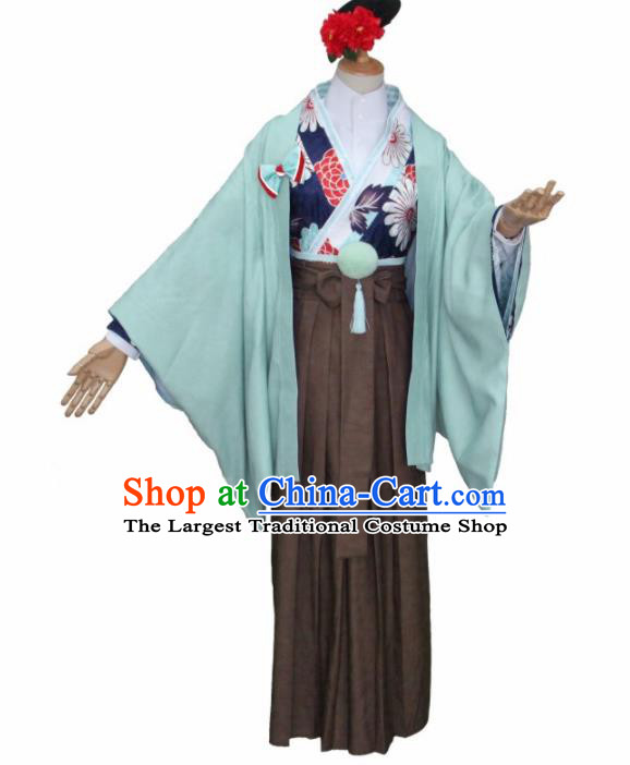 Asian Traditional Kimono Cosplay Costumes Japanese Ancient Furisode Yukata Clothing for Women