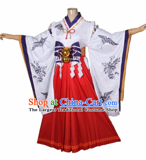 Asian Japanese Traditional Cosplay Geisha Costumes Ancient Yokime Furisode Kimono Yukata Clothing for Women
