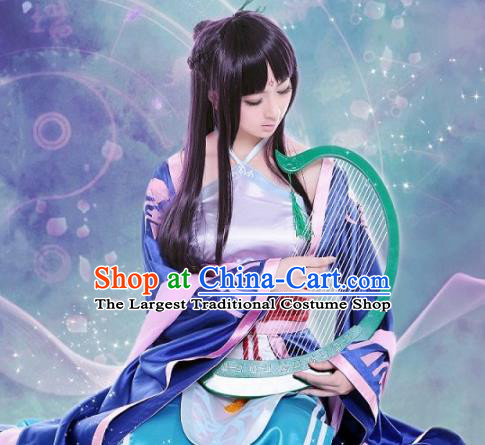 Chinese Traditional Cosplay Princess Costumes Ancient Peri Silk Hanfu Dress for Women