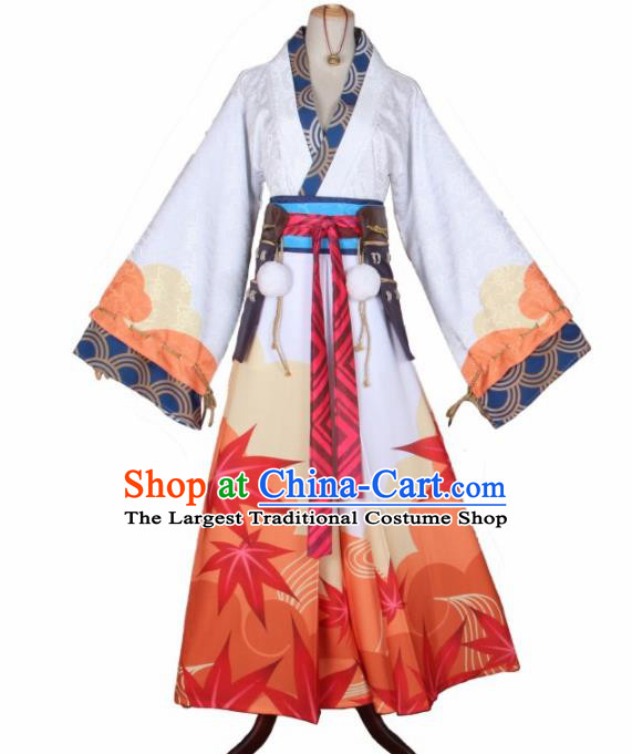 Asian Japanese Traditional Cosplay Onmyoji Costumes Ancient Furisode Kimono Yukata Clothing for Women
