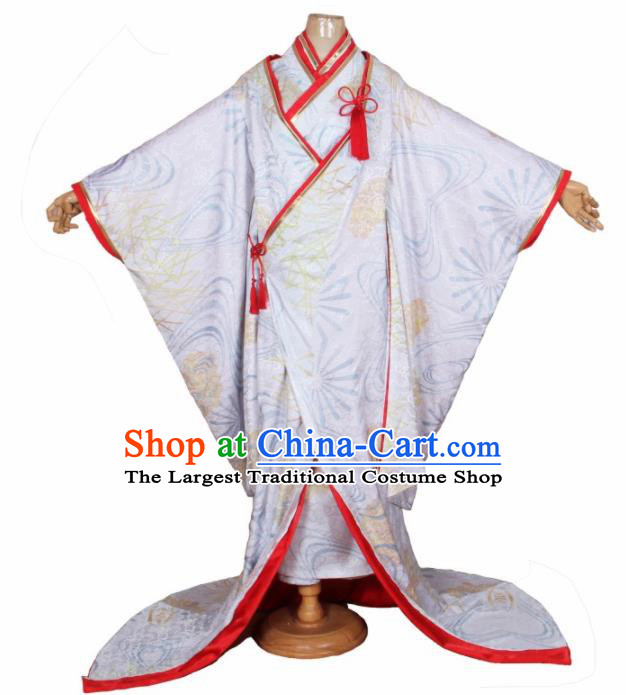 Asian Japanese Traditional Cosplay Shiromuku Costumes Ancient Yokime Furisode Kimono Yukata Clothing for Women