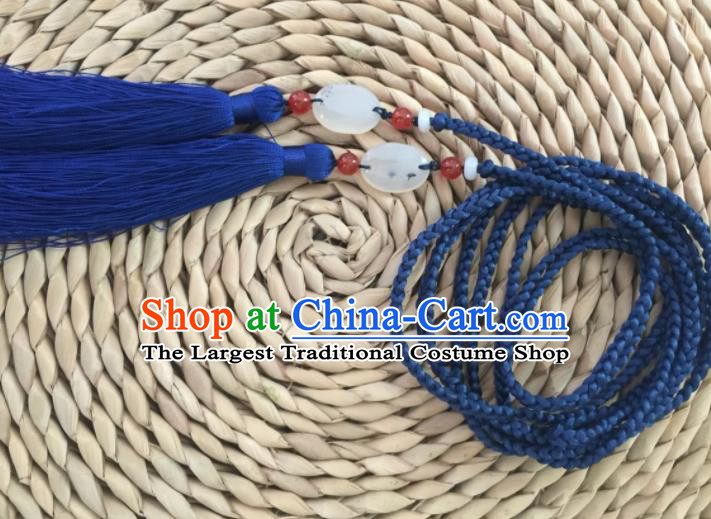 Chinese Traditional Hanfu Waist Accessories Blue Belts for Women