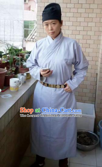 Chinese Ancient Costumes Ming Dynasty Swordsman Grey Robe for Men