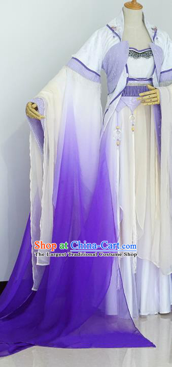 Traditional Chinese Handmade Cosplay Peri Costumes Ancient Tang Dynasty Imperial Consort Hanfu Dress for Women