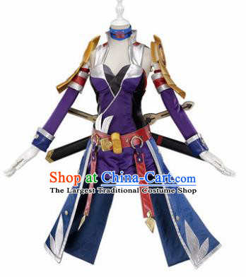 Top Grade Cosplay Female Warrior Costumes Halloween Cartoon Characters Clothing for Women
