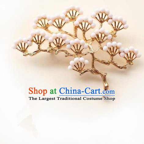 Japanese Traditional Courtesan Pineburst Brooch Ancient Geisha Kimono Breastpin Accessories for Women