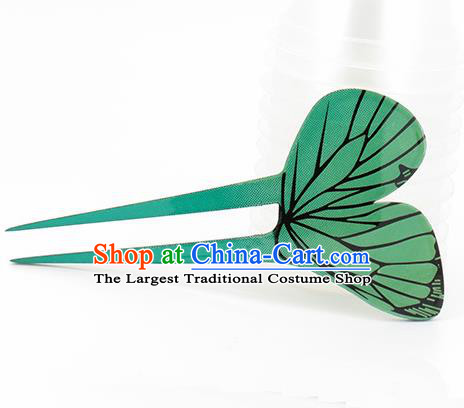 Japanese Traditional Courtesan Green Hair Comb Hairpins Ancient Geisha Kimono Hair Accessories for Women