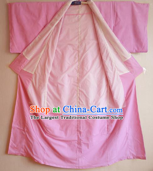 Japanese Traditional Courtesan Pink Furisode Kimono Costumes Ancient Cosplay Yokime Yukata Clothing for Women
