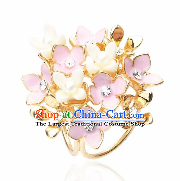Japanese Traditional Courtesan Kimono Sakura Brooch Ancient Geisha Accessories for Women