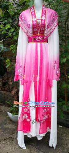 Chinese Traditional Beijing Opera Actress Costumes Ancient Nobility Lady Embroidered Rosy Dress for Women