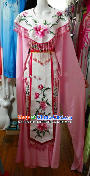 Chinese Traditional Beijing Opera Imperial Consort Pink Dress Ancient Peri Embroidered Costumes for Women