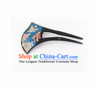 Japanese Traditional Kimono Blue Hairpins Ancient Geisha Hair Accessories for Women