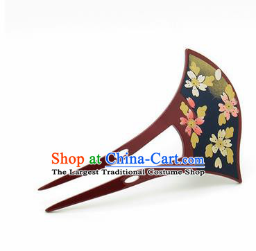 Japanese Traditional Kimono Brown Hairpins Ancient Geisha Hair Accessories for Women