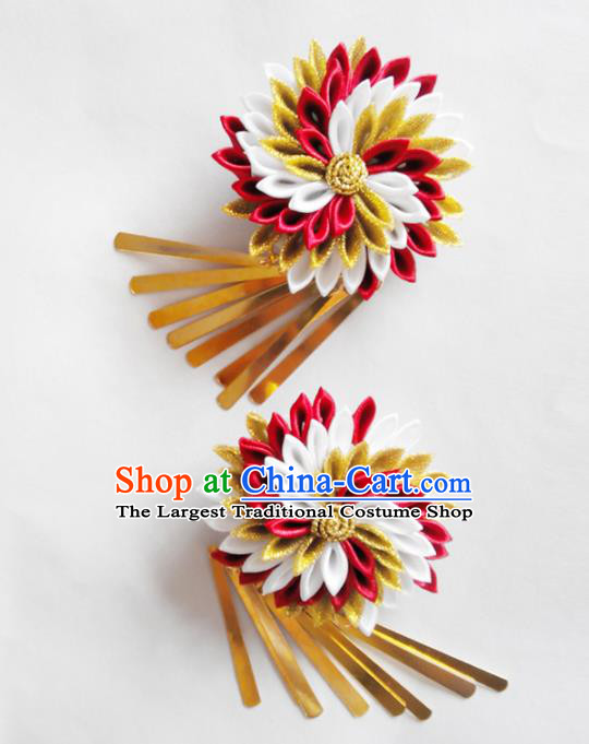 Japanese Traditional Courtesan Kimono Hair Accessories Ancient Yukata Hair Claws for Women
