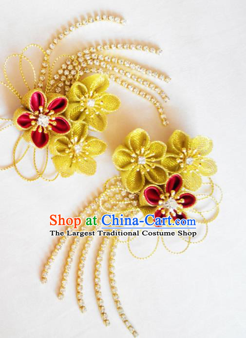 Japanese Traditional Courtesan Hair Accessories Ancient Kimono Yukata Hair Claws for Women