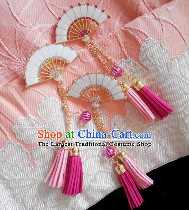 Japanese Traditional Courtesan Hair Accessories Ancient Kimono Yukata Tassel Hair Stick for Women