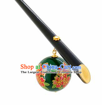 Japanese Traditional Hair Accessories Ancient Courtesan Kimono Green Hairpins for Women