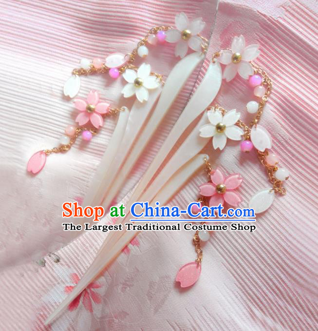 Japanese Traditional Hair Accessories Ancient Courtesan Kimono Tassel Hairpins for Women