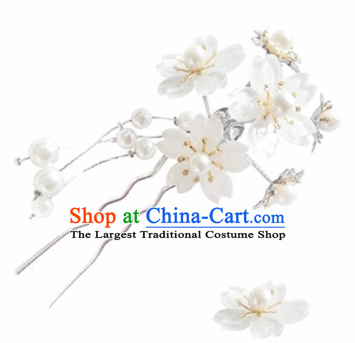 Japanese Traditional Cherry Blossom Hairpins Ancient Courtesan Kimono Hair Accessories for Women