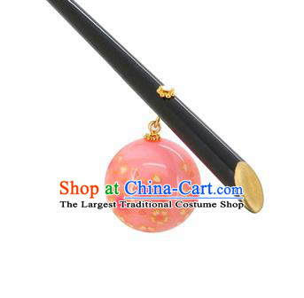 Japanese Traditional Hair Accessories Ancient Courtesan Kimono Pink Hairpins for Women