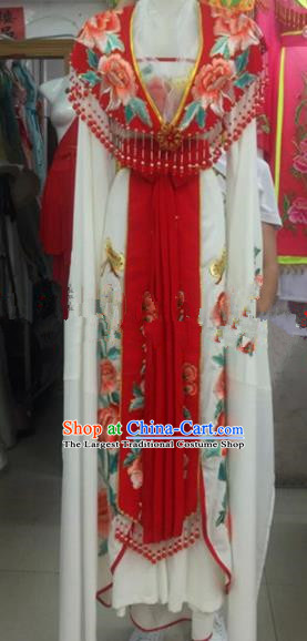 Chinese Traditional Beijing Opera Diva Dress Ancient Palace Princess Embroidered Costumes for Rich