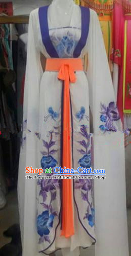 Chinese Traditional Beijing Opera Peri Embroidered Dress Ancient Palace Princess Costumes for Rich