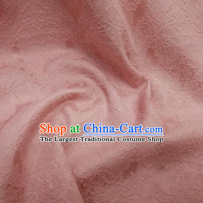 Chinese Royal Pink Brocade Palace Pattern Satin Traditional Silk Fabric Chinese Fabric Asian Material