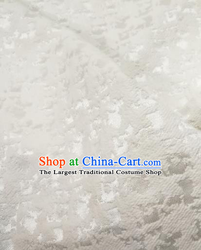 Chinese Royal Brocade Palace Pattern White Satin Traditional Silk Fabric Chinese Fabric Asian Material