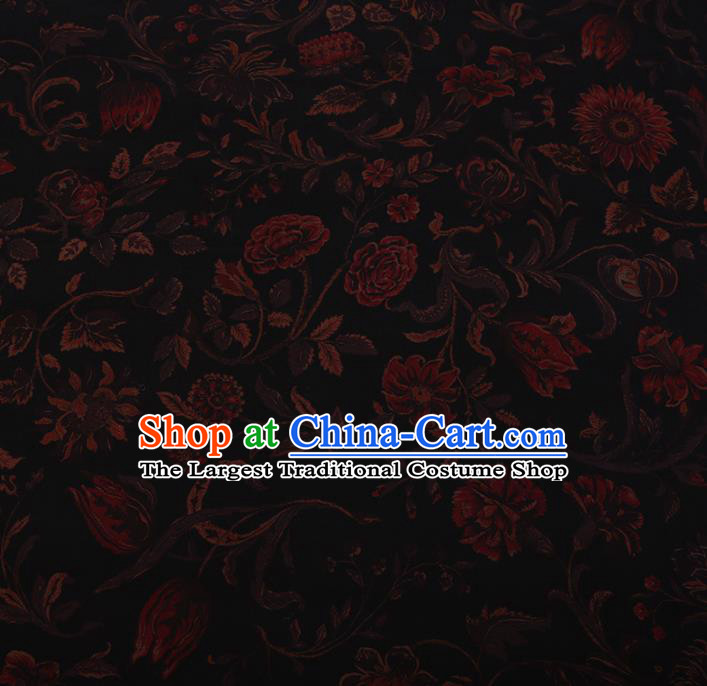 Chinese Traditional Cheongsam Crepe Satin Plain Palace Pattern Silk Fabric Chinese Fabric Asian Material
