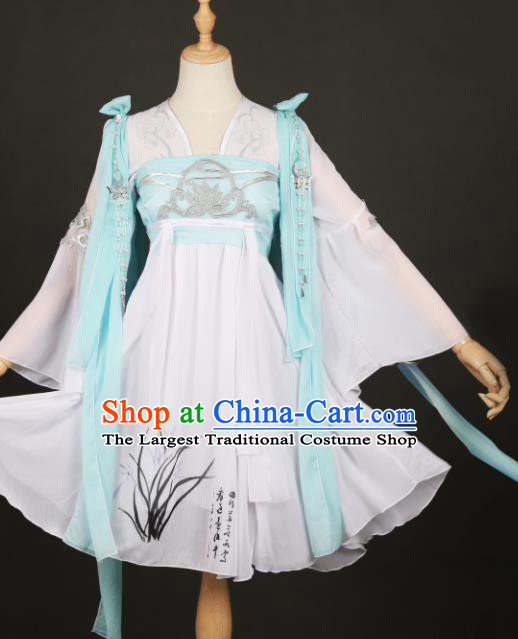 Traditional Chinese Hanfu Dress Ancient Peri Princess Costume for Women