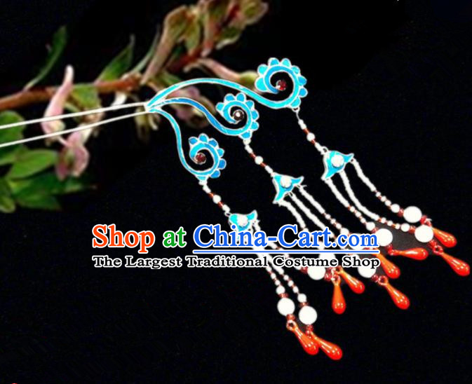 Chinese Traditional Ancient Tassel Hairpins Beijing Opera Hair Accessories for Women
