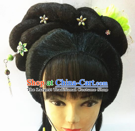 Chinese Traditional Ancient Beijing Opera Wig Sheath and Hairpins Hair Accessories for Women