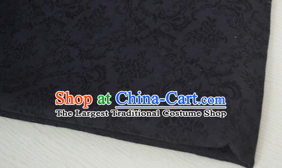 Chinese Royal Black Brocade Palace Style Traditional Pattern Design Silk Fabric Chinese Fabric Asian Material