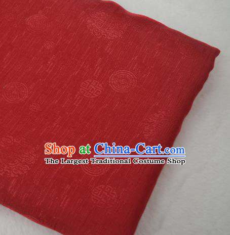 Chinese Royal Red Brocade Palace Traditional Pattern Design Silk Fabric Chinese Fabric Asian Material