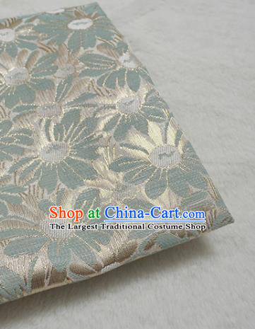 Chinese Royal Green Brocade Palace Traditional Silk Fabric Chinese Fabric Asian Material