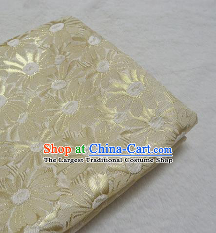 Chinese Royal Yellow Brocade Palace Traditional Silk Fabric Chinese Fabric Asian Material